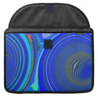 "Aggelikis Blue Patterned Macbook Pro 15"" Sleeve"