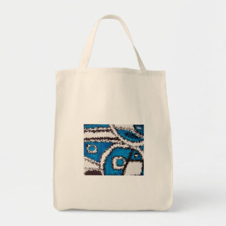 Aggelikis Blue, White Black Abstract Design Tote Bag