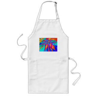 Aggelikis Digital Floral Pattern Long Apron