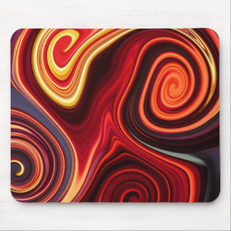 Aggelikis Firey Swirls of Colour Design Mouse Pad