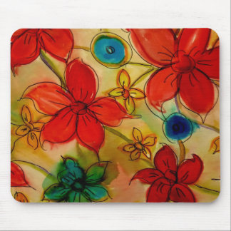 Aggelikis Floral Melange Mouse Pad