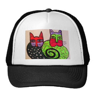 Aggelikis Fun Cats Mesh Hat