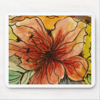 Aggelikis Hibiscus Watercolour Mousemats