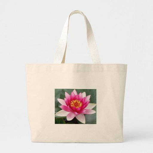 Aggelikis Pink Waterlilly Design Canvas Bags