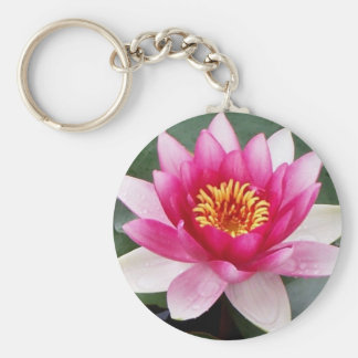 Aggelikis Pink Waterlilly Design Keychain