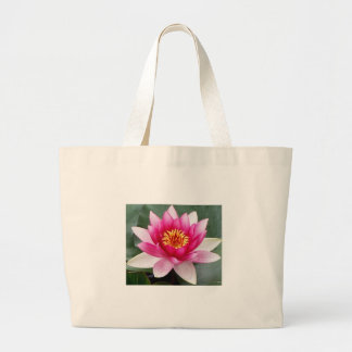 Aggelikis Pink Waterlilly Design Large Tote Bag