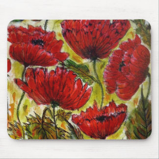 Aggelikis Poppies Mouse Pad