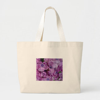 Aggelikis Purple Flowers Design Large Tote Bag