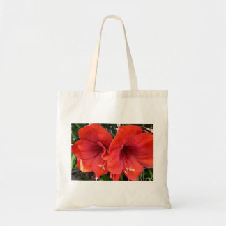 Aggelikis red lillies tote bage