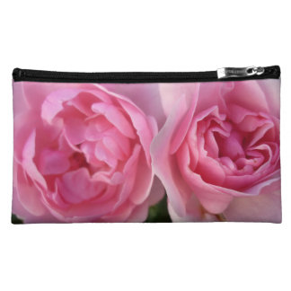 Aggelikis Two Deep Pink Roses Cosmetic Bag