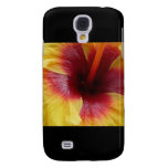 Aggelikis Yellow & Red Hibiscus Flower Design Samsung Galaxy S4 Case
