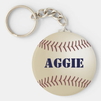 Aggie Baseball Keychain by 369MyName