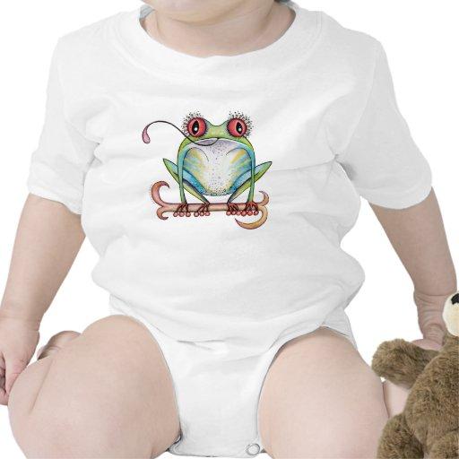 """""""Aggie"""" el rojo observó la ropa del bebé de la ran Camiseta"""