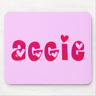 Aggie in Hearts Mouse Pad