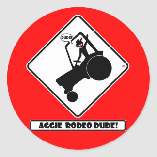AGGIE RODEO w1 Classic Round Sticker