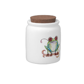 'Aggie' the red eyed tree frog Cookie Jar Candy Jar