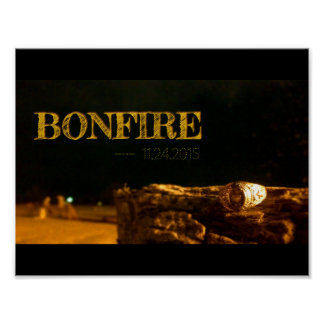 Aggie Tradition - Bonfire!!!! Poster