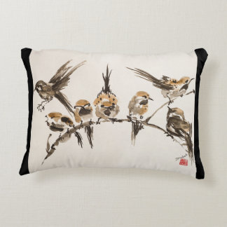 """Aggravated Birds Polyester Accent Pillow 16"""" x 12"""""""