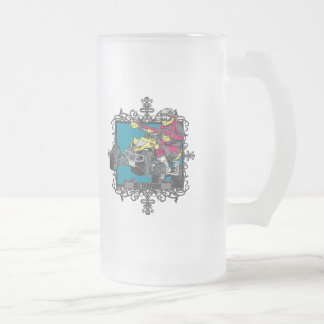 Aggressive All Terrain 16 Oz Frosted Glass Beer Mug