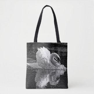 Aggressive Beauty (B&W) Tote Bag