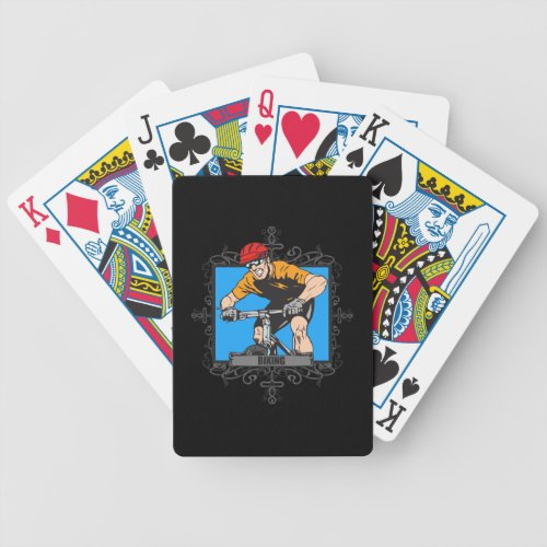 Aggressive Biking Bicycle Playing Cards