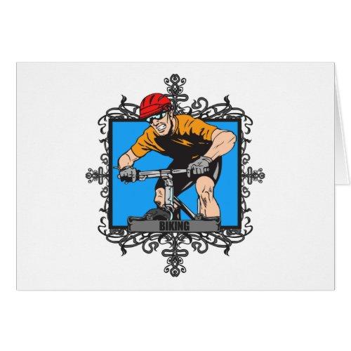 Aggressive Biking Card