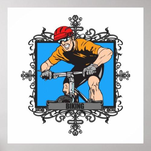 Aggressive Biking Poster