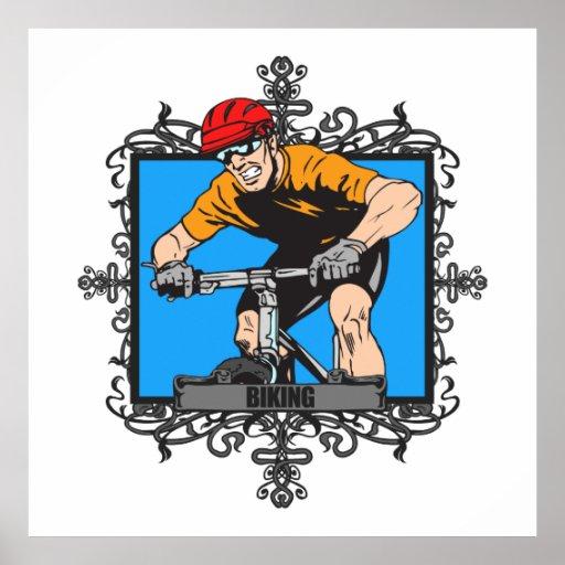 Aggressive Biking Print