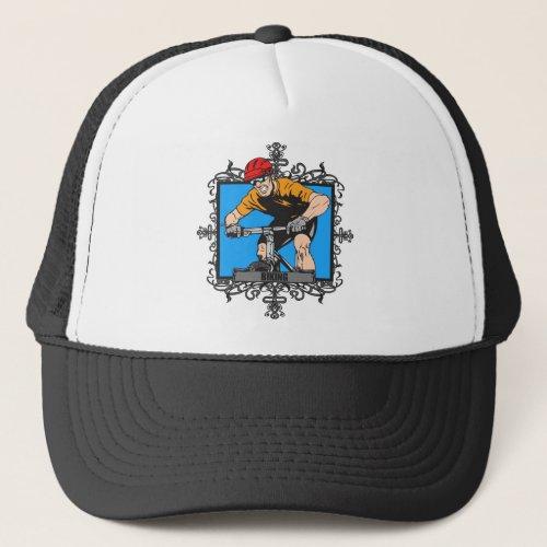 Aggressive Biking Trucker Hat
