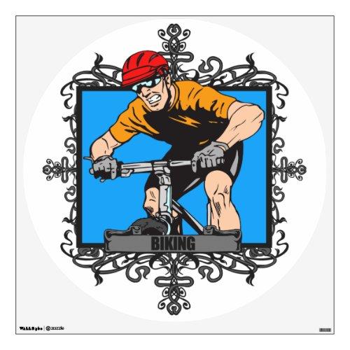 Aggressive Biking Wall Sticker