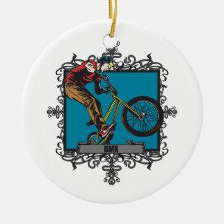 Aggressive BMX Ceramic Ornament