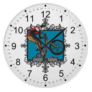 Aggressive BMX Large Clock