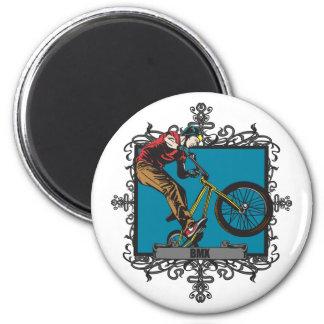 Aggressive BMX Fridge Magnet