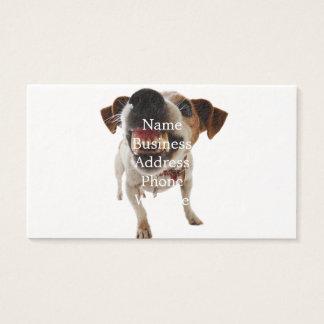 Aggressive dog - angry dog - funny dog business card