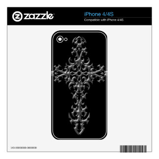 Aggressive Gothic Cross Decals For The iPhone 4