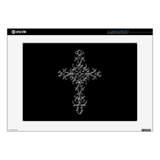 "Aggressive Gothic Cross Skin For 15"" Laptop"