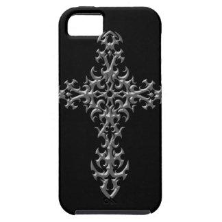 Aggressive Grey Gothic Cross iPhone SE/5/5s Case