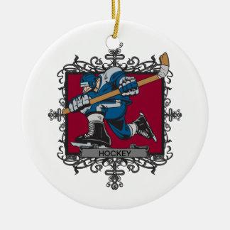 Aggressive Hockey Ceramic Ornament
