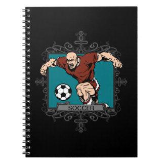 Aggressive Men's Soccer Notebook