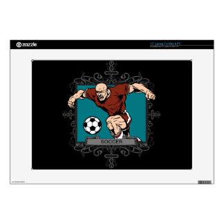 Aggressive Men's Soccer Laptop Decals