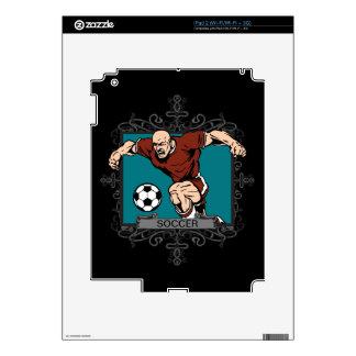 Aggressive Men's Soccer Skins For iPad 2