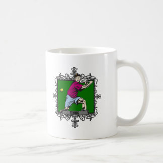 Aggressive Men's Tennis Coffee Mug