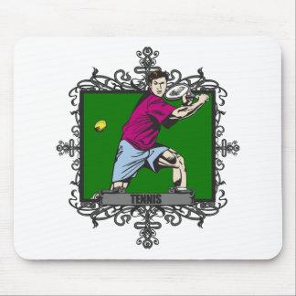 Aggressive Men's Tennis Mouse Pad