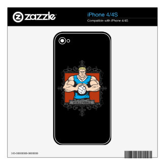 Aggressive Men's Volleyball Decal For iPhone 4