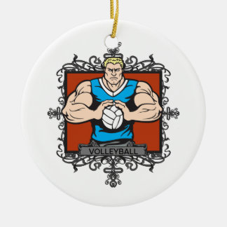Aggressive Men's Volleyball Ornaments