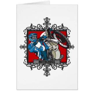 Aggressive Motocross Greeting Cards