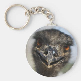 Aggressive Ostrich Keychains