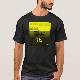 "Aggressive Progressive ""What do you know, when did T-Shirt"