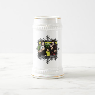 Aggressive Rugby 18 Oz Beer Stein