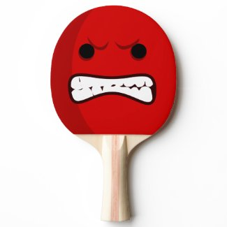 Aggressive Scary Ping Pong Paddle